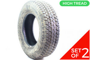 Set Of 2 Used Lt 265 70r17 Goodyear Wrangler At S 1n A 15 16 32