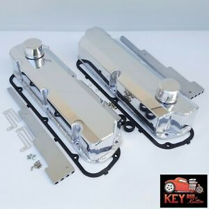 Small Block Ford Polished Fabricated Aluminum Valve Covers 5 0 289 302 351w Sbf