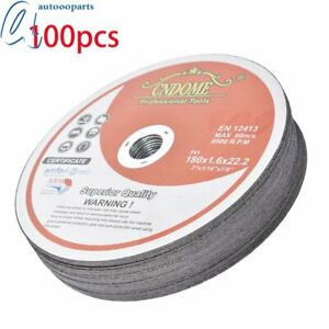 100 Pack 7 x1 16 x7 8 Cut off Wheel Metal Stainless Steel Cutting Discs