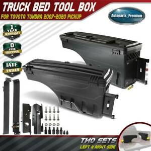 2pcs Truck Bed Storage Box Toolbox For Toyota Tundra 2007 2020 Rear Left