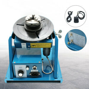 Mini 2 5 Rotary Welding Positioner Turntable Table 10kg 3 Jaw Lathe Chuck By 10