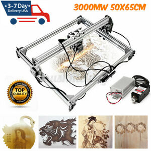 3000mw 65x50cm Laser Engraving Machine Kit Cutting Engraver Desktop W Goggles