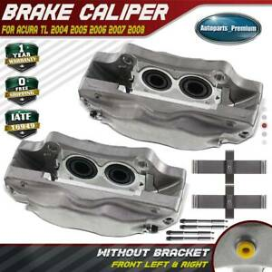 2x Brake Caliper For Acura Tl Base 2004 2008 Type S 2007 2008 Front Left Right