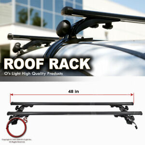 Roof Top Rail Less Crossbar Rack Carrier Cross Bars Fit Sedan Coupe Wagon