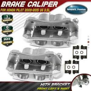 2x Disc Brake Calipers With Bracket For Honda Pilot 2009 2015 Front Left Right