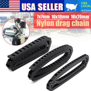 Black Nylon Energy Chain Drag Cable Wire Carrier For 3d Printer 7x7 10x10