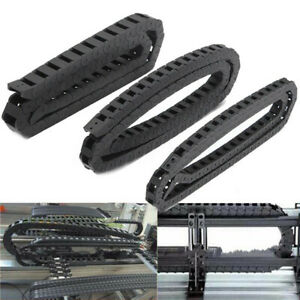 Black Nylon Energy Chain Drag Cable Wire Carrier For 3d Printer 7x7 10x10 Us