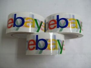 3 Rolls Colorful Ebay Logo Packing Tape 2in X 75yds New From Bulk Pack Free Ship