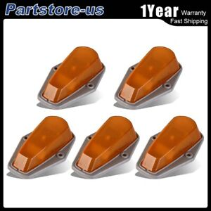 5pc Running Clearance Roof Top Cab Marker Light Amber For 1980 97 Ford F150 350
