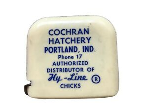 Cochran Hatchery Hy Line Dealer Of Chicks Vintage Tape Measure Portland Ind