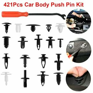 421pcs Universal Car Body Push Pin Rivet Trim Panel Fastener Clip Mould tools