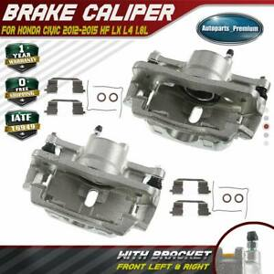 2x Disc Brake Calipers For Honda Civic 2012 2015 Hf Lx 1 8l Front Left Right