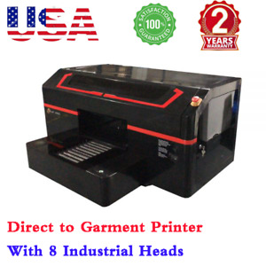 Usa Dtg Printer Single Station Direct To Garment Printer 8 Industrial Heads