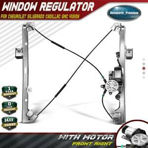 Power Window Regulator With Motor For Chevy Silverado Gmc Front Right Passenger