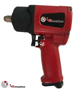 1 2 Air Impact Wrench Gun Heavy Duty Industry Lematec Pneumatic Tool 820 Ft Lbs