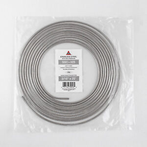 3 16 Inch X 25 Foot Stainless Steel Line Brake Fuel Transmission Tubing Coil