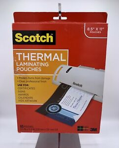 3m Scotch Thermal Laminating Pouches 65 Pouches