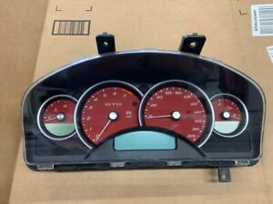 2004 2006 Pontiac Gto Dash Cluster Assembly 123 459 Miles Auto Trans Oem Red