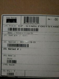 Lot Of 10 New Cisco Cp singlefootstand Kit