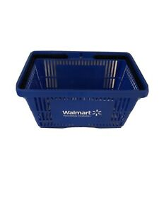 Full Size Walmart Shopping Basket Blue