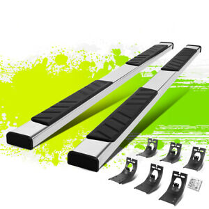 5 Polished Flat Running Boards Step Bars For Dodge Ram Truck Extended Cab 09 20