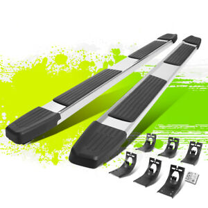 6 Polished Flat Step Bar Running Boards For Dodge Ram 1500 3500 Crew Cab 09 20