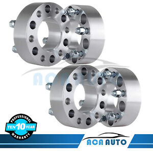4pcs 2 50mm Wheel Spacers 6x135 14x2 Studs For Ford F 150 Expedition 2004 2014