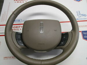 05 11 Lincoln Town Car Steering Wheel Parchment With Driver Airbag Oem 3