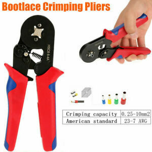 Ferrule Ratchet Crimper Plier Crimping Tool Cable Wire Electrical Terminals Kit