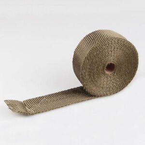 Titanium Muffler Exhaust Pipe Insulation Thermal Heat Wrap Motorcycle Header 5m