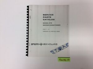 New Holland 478 Mower Conditioner 7 79 Service Parts Catalog