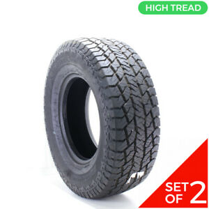 Set Of 2 Used Lt 295 70r17 Hankook Dynapro At2 121 118s 15 32