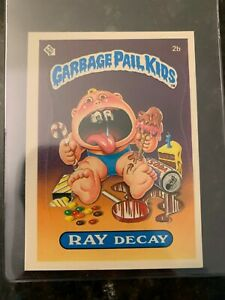 1985 Garbage Pail Kids Stickers #2B RAY DECAY (MATTE)..............EX-MT $10.07