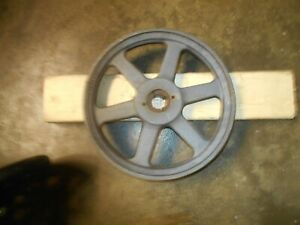 Cast Iron 10 3 4 1 3 8 Groove Dual Belt Pulley W 7 8 Sheave 2ak104h