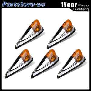 5pc Amber Cab Marker Roof Top Running Clearance Light Off Road Pickup Truck