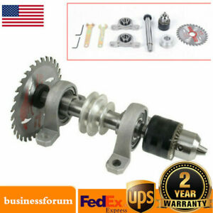 Diy Woodworking Spindle Chuck Bearing Pulley Bench Saw Drill Rotary Cnc Lathe Us
