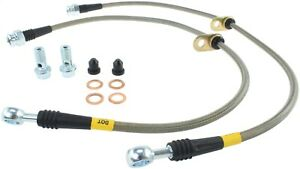 Stoptech 950 40011 Stainless Steel Braided Brake Hose Kit Fits Civic Csx Ilx