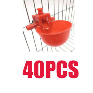 40 Pcs Automatic Poultry Watering Cups Waterers Water Drinker Feeder For Chicken