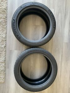 2 Used Tires 255 40zr18 97y Michelin Pilot Sport 4s