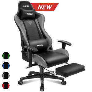 Ergonomic Computer Gaming Chair With Footrest Office Desk Recliner Swivel Chair