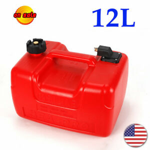 Portable Gas Tank Gasoline Diesel Outboard Fuel Tanks For Boat 12l Capacity Red