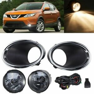 Front Bumper Fog Light Kit For 2017 2019 Nissan Rogue Sport With Wiring