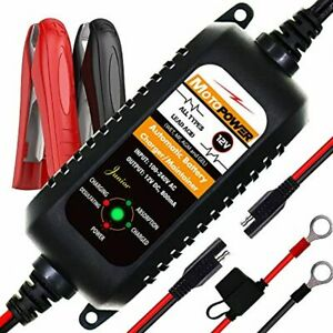 Automatic New Battery Charger Maintainer Tender 12v800ma Motorcycle Atv Boat Car