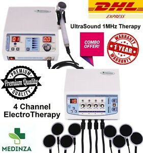 Latest Combo Offer Ultrasound 1 Mhz Therapy And Four Channel Electrotherapy Unit