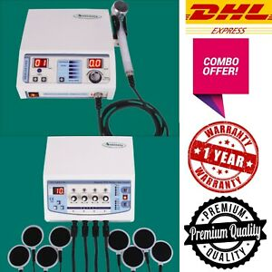 Lowest Price Combo Offer Ultrasound 1mhz Therapy 4 Channel Electrotherapy Unit