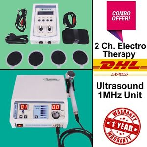 Lowest Price Combo Offer Ultrasound 1mhz Therapy 2 Chhanel Electrotherapy Unit