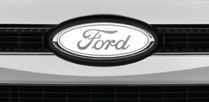 Ford Overlay Logo White Chrome Overlay Decals Front Only