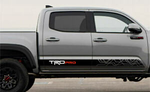 2016 2017 2018 Toyota Tacoma Trd Pro Rd Side Stripe Decal Graphics Sticker