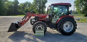 2019 Case Ih Farmall 75a Cab Loader Tractor Only 6 Hours Loaded Cab Warranty