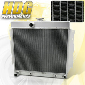3 Core Front Mount Aluminum Radiator For 63 69 Plymouth Fury Dodge Charger Dart